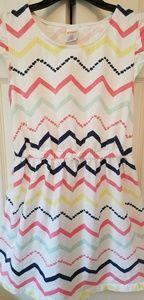 Gymboree dress white with stripes size 10